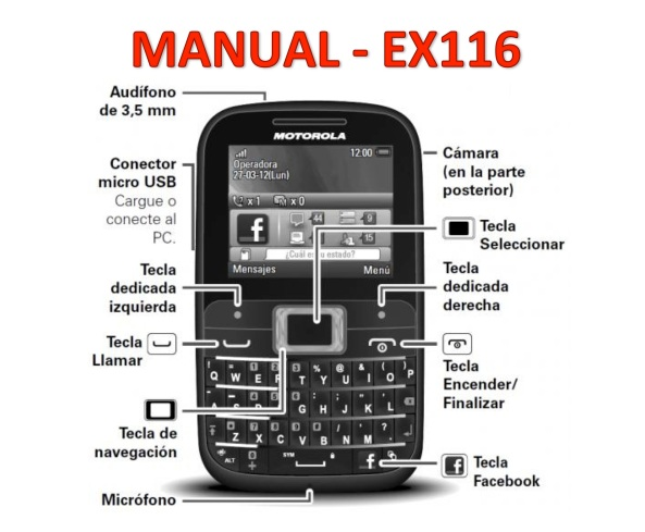 MANUAL MOTOROLA EX116